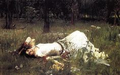 Ophelia III by John William Waterhouse paintings reproductions sale - www.oilpaintingsreplica.com