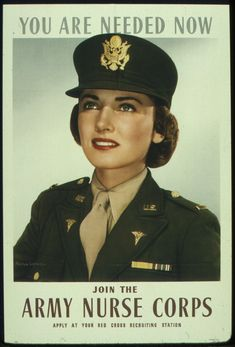 A World War II Army recruiting poster encourages women to join the Army Nurses Corps at a Red Cross recruiting office. Description from hawaiiarmyweekly.com. I searched for this on bing.com/images