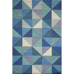 Corrigan Studio Carmel Hand Tufted Blue Area Rug & Reviews | Wayfair