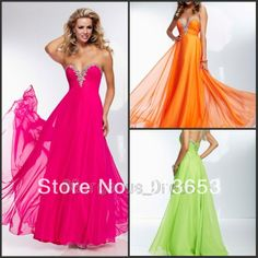 Newest Gorgeous exquisite Natural design, glamour infinite Beaded Chiffon Sweetheart Evening Dresses Party Gowns Prom Dresses $116.99