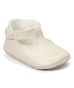 e403f1f0062 Cuquito Ivory Scalloped Leather T-Strap Shoe. Toddler Girl StyleToddler ...