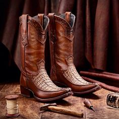 Cuadra Boots will be available Next Weekend Custom Cowboy Boots, Cowgirl Boots, Western Boots, Crocodile Boots, Cool Boots, Cowgirls, Mens Clothing Styles, Boys Shoes, Jeans And Boots