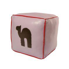 David & Luna | Vinyl Pouf #Camel. #softfurnishings #furniture #lilac #powderpink #red
