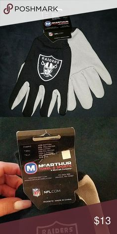 Men's Raider gloves New with tags adults men Raider gloves Raiders Other