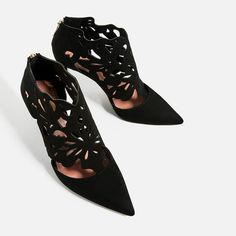 Image 3 of WRAPAROUND LEATHER HIGH HEEL SHOES from Zara