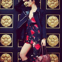 Shooting avec la superbe @lenatadini_model !! 😍 💥Tenue stylée avec une robe signée @boohoofrance !! #dress #style #boohoofrance