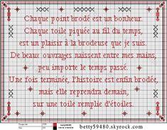 brodeuse - embroiderer - citation - point de croix - cross stitch - Blog : http://broderiemimie44.canalblog.com/