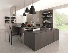 Wooden fitted kitchen KUBIC 4 by Euromobil | design Roberto Gobbo
