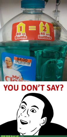 Mr. Clean is Good at Math. You don't say!?
