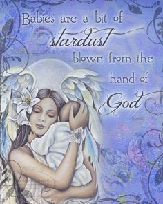 BABIES are STARDUST vintage angel and newborn baby collage inspirational art print by Jessica Galbreth. via Etsy.