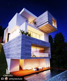 Great design use of materials and shape.