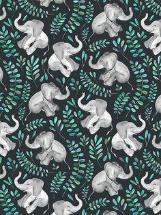 Elefantes poco a reír tan fuerte que sus estómagos daño … dibujados a mano con lápiz y pintadas con acuarelas. • Buy this artwork on apparel, stickers, phone cases y more.