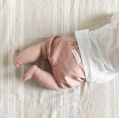 Rose pink linen bloomers