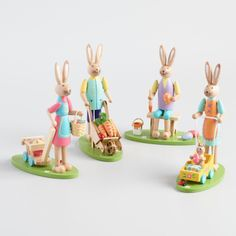 Wood Easter Bunny Figures Set of 4  #CostPlusWorldMarket