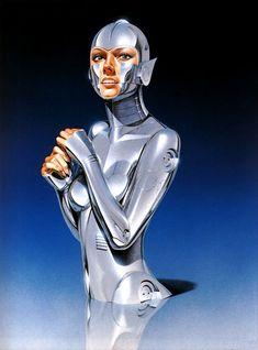 sexy robots art hajime-sorayama