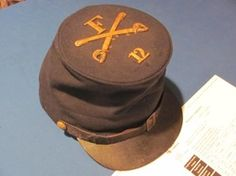 IDENTIFIED UNION CAVALRY FORAGE CAP PVT. SAMUEL FORBES 12TH NEW YORK