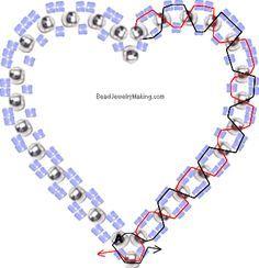 Beaded Heart In Heart ~ Seed Bead Tutorials