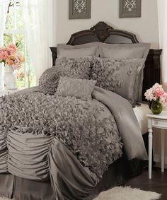 Look what I found on #zulily! Gray Lucy Comforter Set by Lush Décor #zulilyfinds