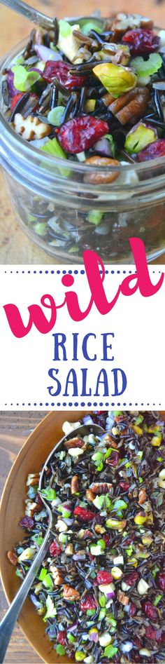 Wild Rice Salad with Cranberries and Nuts is the perfect fall and holiday salad ~ theviewfromgreatisland.com