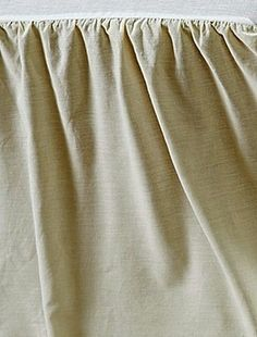 """Chambray Creme Bed Skirt 100% Cotton Platform Dust Ruffle Split Corners 16"""" Drop #VHCBrands #Country"""