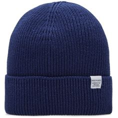 Norse Projects Watch Beanie ($33) ❤ liked on Polyvore featuring men's fashion, men's accessories, men's hats, mens beanie hats and mens cotton beanie hats
