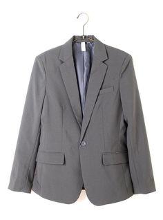 I 長袖チャコール L (ジャックポート)JACK PORT テーラードジャケット メンズ 長袖 7分袖 スーツ生地 1B ブレザー スーツ 春 夏 JPP06207006955
