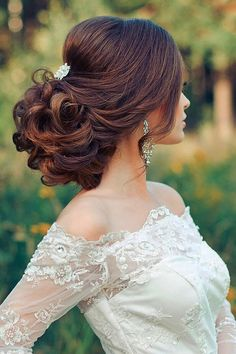tsvetkovasstudio curly wedding updo hairstyle