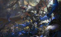 World of Warcraft movie poster.魔兽世界电影海报, Wei Feng on ArtStation at https://www.artstation.com/artwork/AkDEe