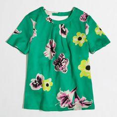 Factory printed cutaway top - blouses/tees - FactoryWomen's Shirts & Tops - J.Crew Factory