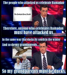 The Colbert Report.  I miss watching this show.