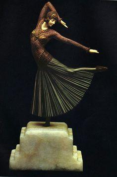 Antike Originale Vor 1945 Intelligent 100% Solid Original Bronze Chiparus Tänzer Home Office Deko Dekor Bronzeskulptur Reputation First