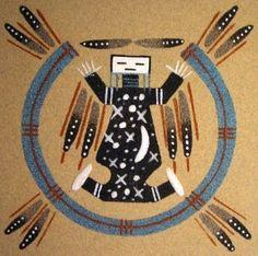 Une histoire du graphisme: chapitre 78; Navajo Indiens peinture de sable