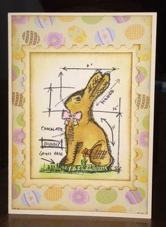 Another Tim Holtz Easter Blueprint card