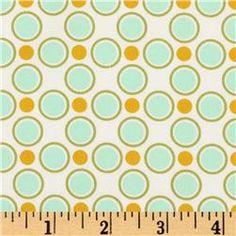 Aqua + yellow coordinating fabric