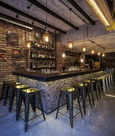 View the full picture gallery of Pergula Urban Bar Bar Interior Design, Pub Design, Coffee Shop Design, Back Bar Design, Sport Bar Design, Pub Interior, Menu Design, Design Bar Restaurant, Restaurant Branding