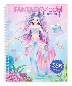 Top Model - Fantasy Model Dress Me Up Sticker & Activity Book Mermaid - Depesche Fashion Illustration Hair, Minnie Mouse Clubhouse, Personajes Monster High, Christmas Presents For Kids, Project Mc2, Disney Frozen Birthday, Unicorn Fashion, Frederique, Fantasy Model