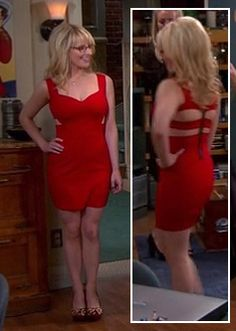Bernadette's red mini dress on Big Bang Theory Melissa Rauch, Hot Actresses, Beautiful Actresses, Salma Hayek Hair, Big Bang Theory Episodes, Forever 21 Dresses, Bigbang, Girls, Celebs