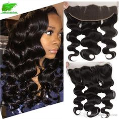 Unprocessed Lace Frontal Closure Brazilian Body Wave With Lace… Lace Weave, Brazilian Body Wave, Smooth Hair, Lace Frontal, Lace Closure, Hair Extensions, Wigs, Therapy, Long Hair Styles