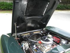 '65 Glenn Green Corvette Convertible with 327 CID, 4 speed, Vintage Air, Side Pipes, Original wheels and hubcaps, rust free chassis, big block hood is GM, not aftermarket. Drive this car anywhere. Corvette Convertible, Vintage Air, Rust Free, Pipes, Wheels, Big, Green, Stuff To Buy