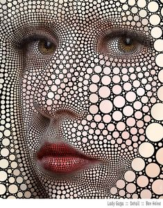 digital circlism by Ben Heine