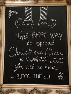 Ok, I Think I Understand Christmas Chalkboard Art, Now Tell Me About Christmas Chalkboard Art! If painting isn't your thing, consider re-facing. Christmas Chalkboard Art, Chalkboard Decor, Chalkboard Lettering, Chalkboard Designs, Kitchen Chalkboard, Chalkboard Sayings, Chalkboard Walls, Christmas Quotes, Christmas Signs