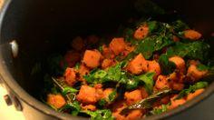 Sweet Potato with Fenugreek Leaves (methi)