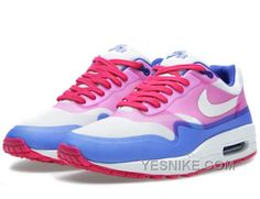 Big Discount  66 OFF Nike Air Max 1 Womens Pink White Black Friday Deals 2016XMS1554