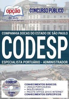 Apostila CODESP Especialista Portuário Administrador PDF Download Digital Baixar ou Impressa Apostila Concurso Companhia Docas do Estado de São Paulo 2017
