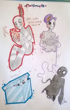 | Marionnette | by Niumiko Foxy And Mangle, The Marionette, Freddy 3, Fnaf Sl, Funny Comic Strips, Freddy Fazbear, Sister Location, Anime Fnaf, My Little Baby