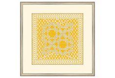 Small Yellow Tile III on OneKingsLane.com