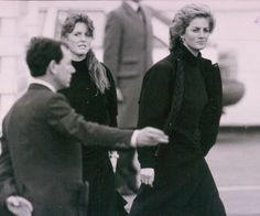 11 MARCH 1988 PRINCE CHARLES & PRINCESS DIANA END KLOSTERS SKI HOLIDAY AFTER FATAL AVALANCHE KILLED MAJOR HUGH LINDSAY