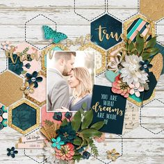 Amber Shaw: In My Dreams Brook Magee: Trifecta Hexy Back Glitter styl. Amber Shaw: In My Dreams Brook Magee: Trifecta Hexy Back Glitter styles from: Studio Flergs - Autumn Beauty Photo credit: scr. Ideas Scrapbook, Wedding Scrapbook Pages, Bridal Shower Scrapbook, Paper Bag Scrapbook, Love Scrapbook, Scrapbook Layout Sketches, Scrapbook Designs, Scrapbook Supplies, Scrapbook Cards