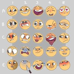 Ideas For Drawing Faces Expressions Art Drawing Reference Poses, Drawing Poses, Drawing Ideas, Drawing Tips, Facial Expressions Drawing, Drawing Meme, Expression Sheet, Art Prompts, Drawing Challenge