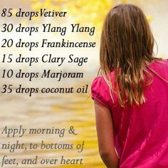 Peaceful child blend for children with attention, focus and even learning disabilities. Essential oils are the way of the future and yet have been around for thousands of years check out my website if you want to know more. http://www.mydoterra.com/metcalf/